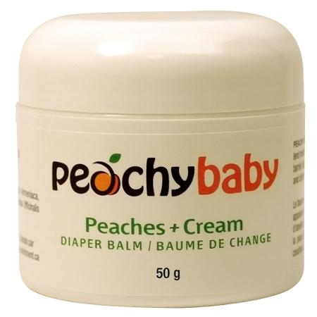 🍁  Peachy Baby   Peachy Baby's Skin Soothing organic calendula and shea butter balm lend moisture while beeswax and coconut oil provide a natural moisture barrier.