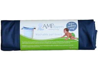 🍁  AMP Pail Liner    A pail liner will keep you from needing to wash out your diaper pail every time you do diaper laundry, just empty the diapers into the washer and toss the pail liner in there too! These are especially handy for use with front loading washing machines where it can be difficult to dump a diaper pail full of diapers into the small sideways door of the machine.
