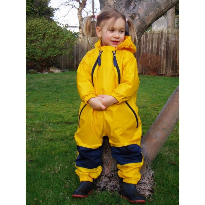 Tuffo Muddy Buddy    Helps to keep your child dry when exploring the mucky outdoors! We carry sizes from 12 months up to 5 years.