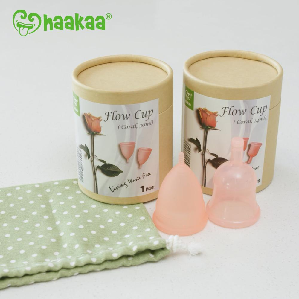 Haakaa    The Haakaa Flow Cup is the perfect alternative for women looking for a safe, simple, economical and waste-free way to manage their periods. Made from 100% soft and flexible silicone, the Haakaa Flow Cup is free from BPA, chlorine and other harsh chemicals that are found in conventional pads and tampons. And for every Flow Cup sold, one is donated to a schoolgirl in need.