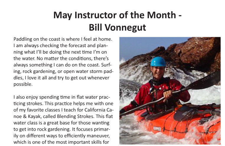 Paddle Magazine   ACA Instructor of the Month  May 2016