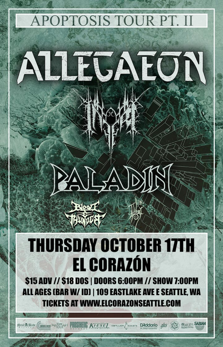 Tickets for Allegaeon available now! -