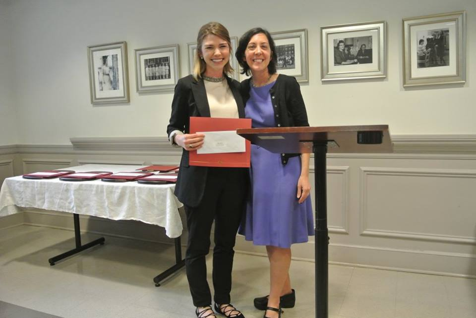 Research Award - This is a picture of me and my research advisor, Dr. McMillen, when I won an award for