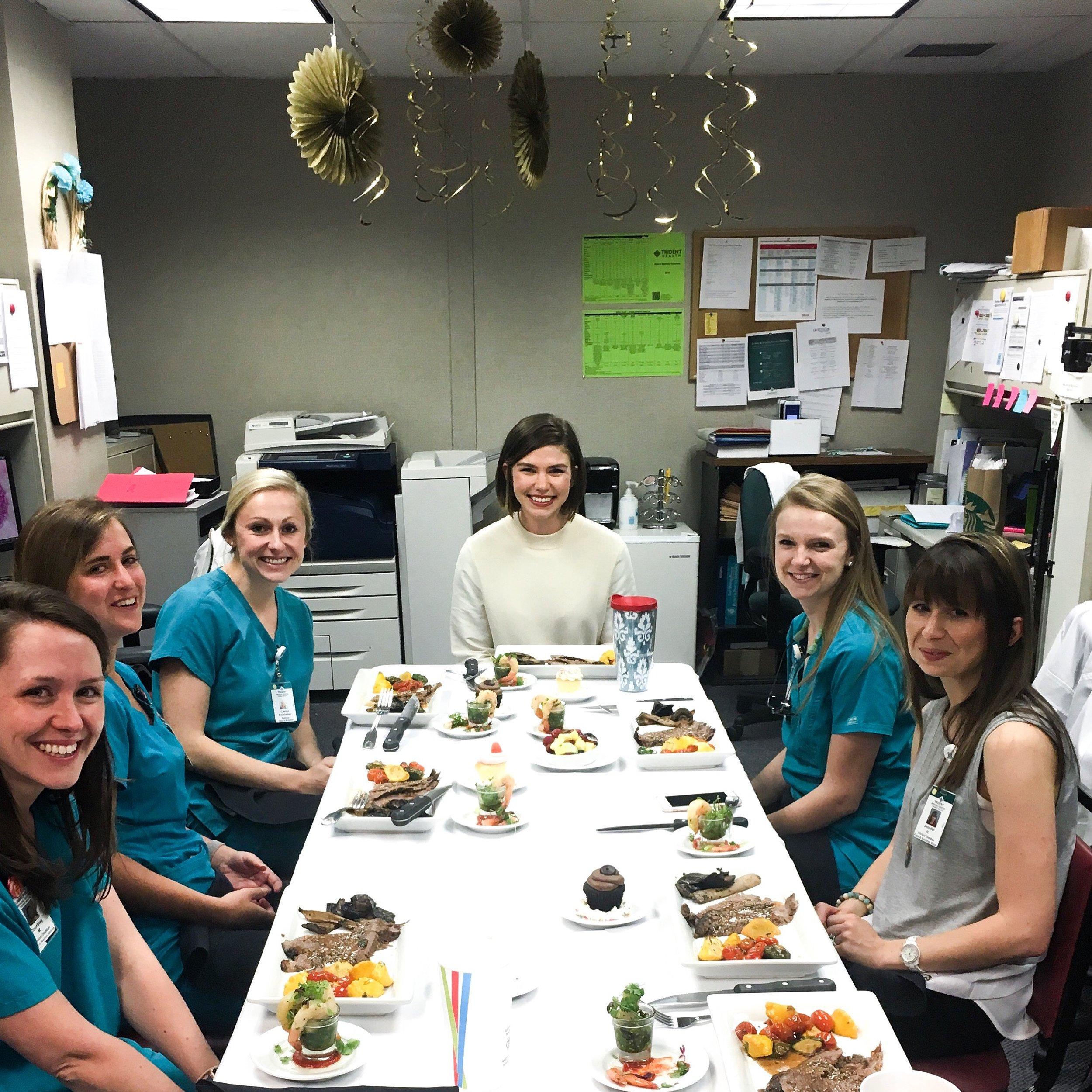 The RD's celebrated my last day as their intern!