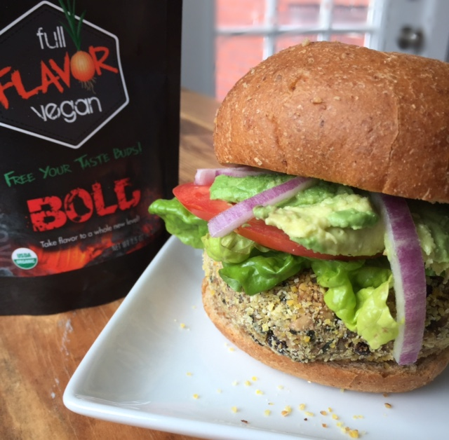 Bold burger - Bursting with texture, earthiness and color, this BOLD burger holds nothing back!
