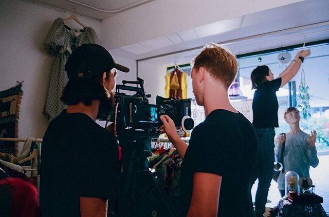 On set Sequin In A Blue Room - Now in post production. Here is our cinematographer @jaygrnt with @nicholasgascoine • • • #queerart #queerfilm #queercinema #gay #sydneygay #sydney #queerphotography #australianfilm #gayart #queer #AFTRS #SIABR #sequininablueroom #queerscreen