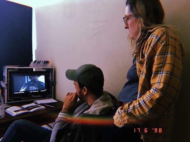 2nd unit Cinematographer @carinaburke on set with director @svgrinsven • • • #queerart #queerfilm #queercinema #gay #sydneygay #sydney #queerphotography #australianfilm #gayart #queer #AFTRS #SIABR #sequininablueroom #queerscreen