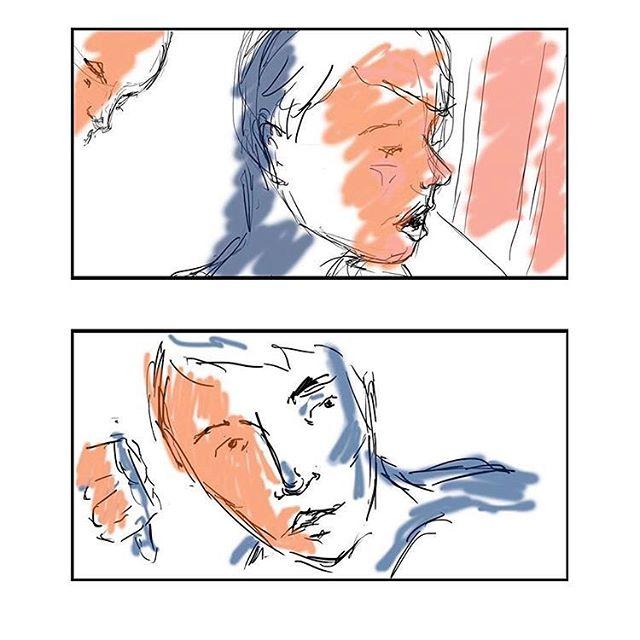 Early storyboarding frames from pre production. • • • #queerart #queerfilm #queercinema #gay #sydneygay #sydney #queerphotography #australianfilm #gayart #queer #AFTRS #SIABR #sequininablueroom #queerscreen