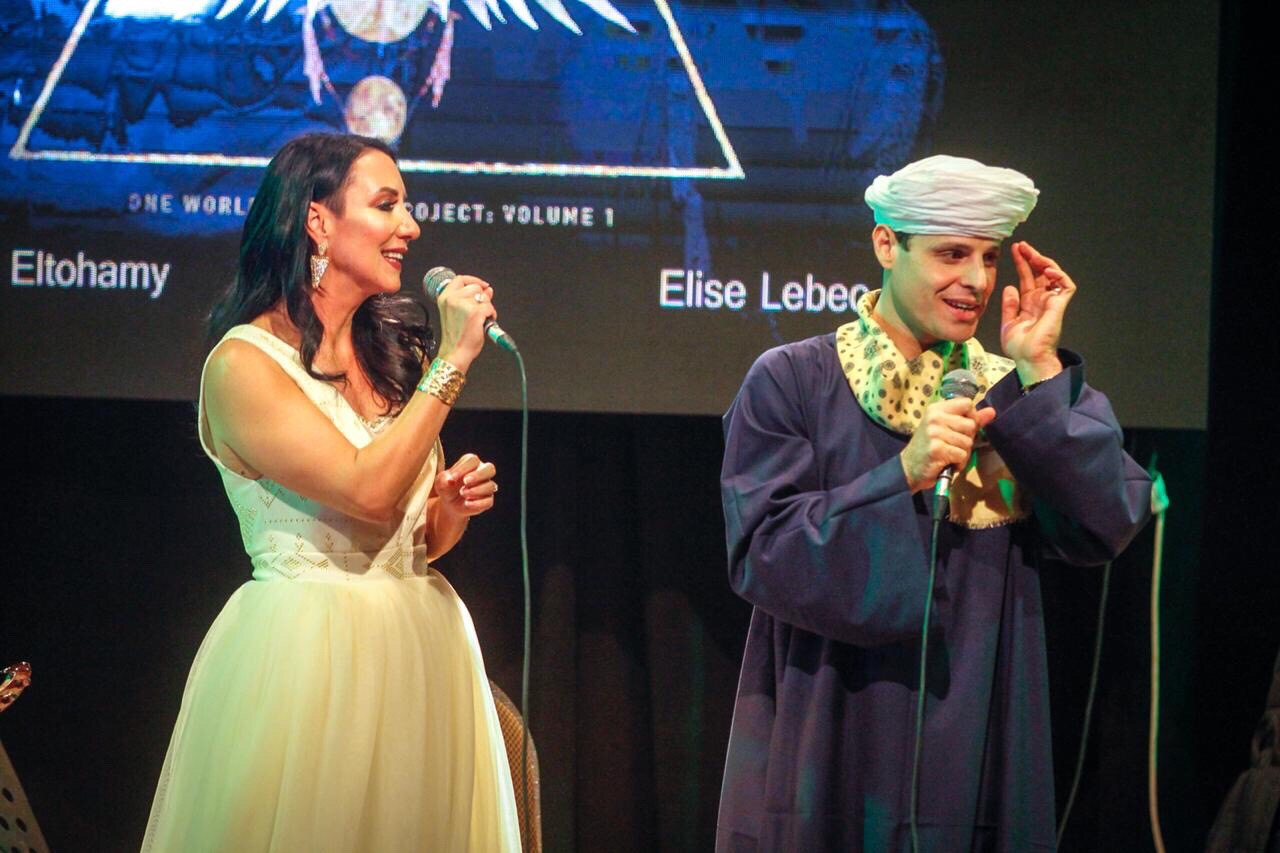 Our first concert at Sawy Culture Wheel, Cairo. Elise Lebec and Sheikh Mahmoud Eltahomy, 2018