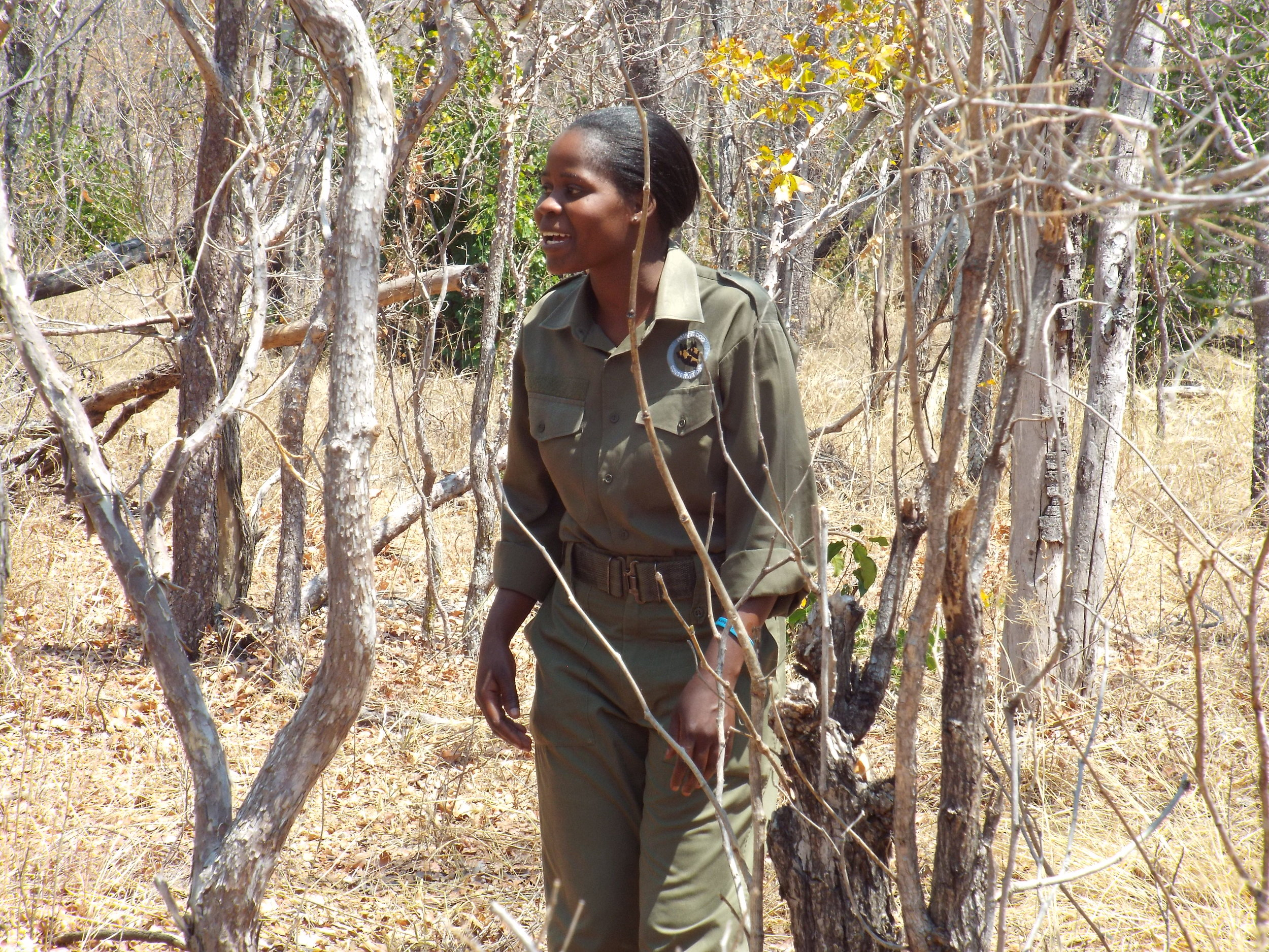 "In 2017, twelve years after the kudu rescue, Belinda returned to PDC. ""The Bush Camp changed my life, I was eager to become an anti-poaching ranger, which l am proud to be now"" - Belinda Ncube."