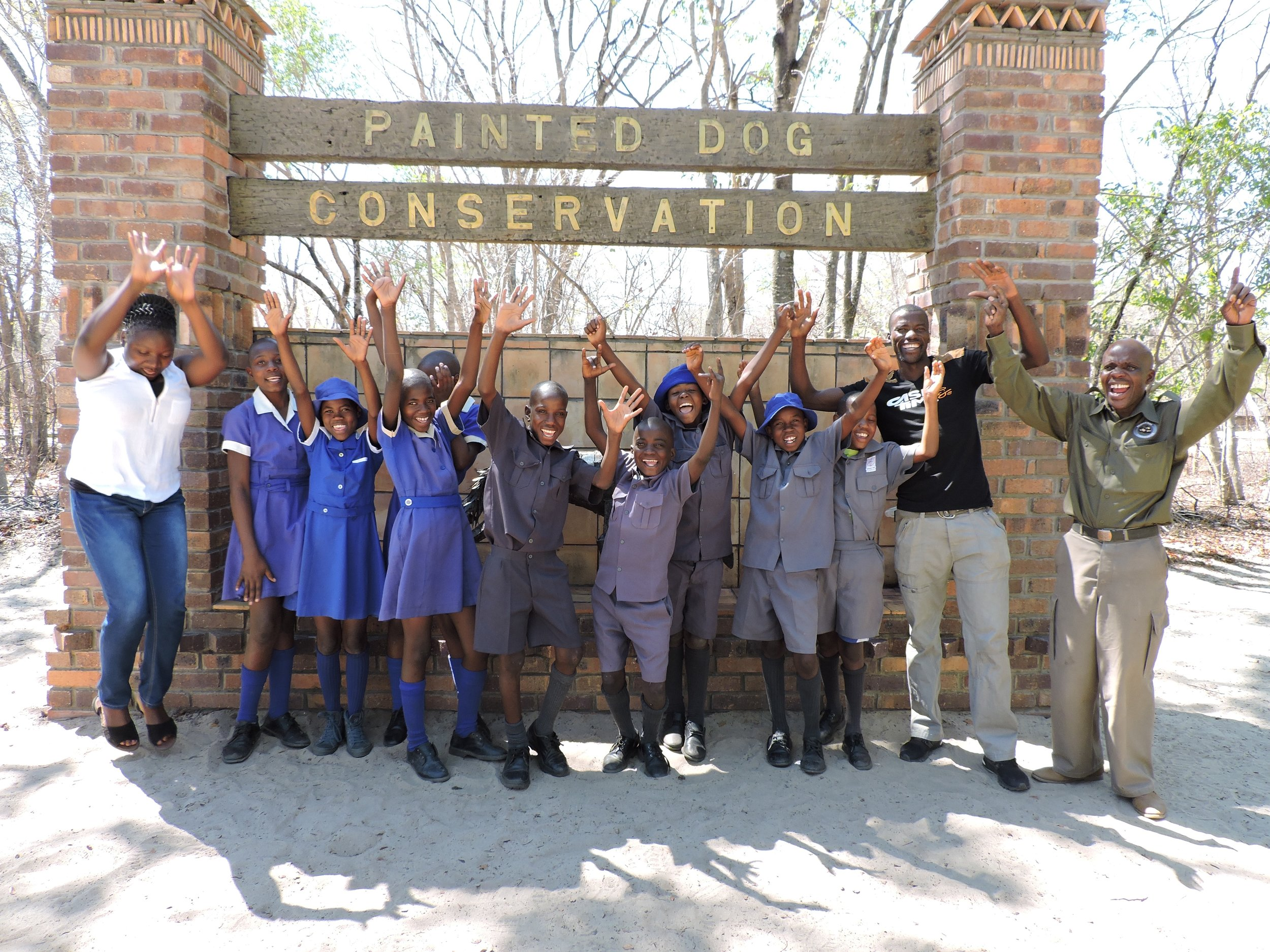 Mpindo Primary School grade 6 kids with Moyo, their teacher and PDC guide.