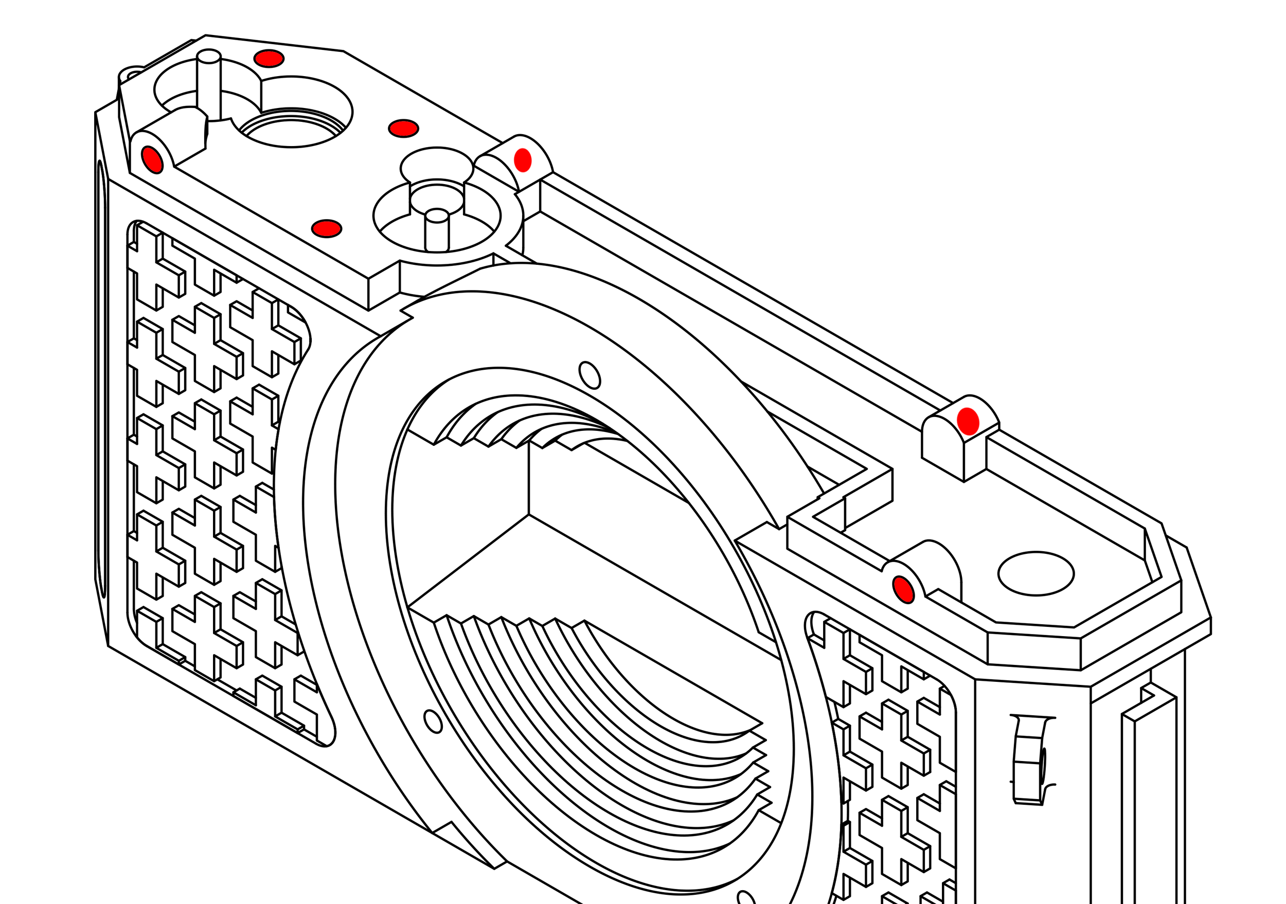 Step 1 : Heat-Set Inserts. - Step 1 : Heat-Set Inserts.the camera uses two types of heat set inserts, M2 & M2.5.First start with the M2 inserts. the body has a total of 7 of them, all located on the top of the camera, three for the gear spacer and four for the top plate. The body also has two 2.5 inserts, both to hold the bottom plate. The main gear, sprocket gear 2 and rewind lever all also need M2.5 inserts.