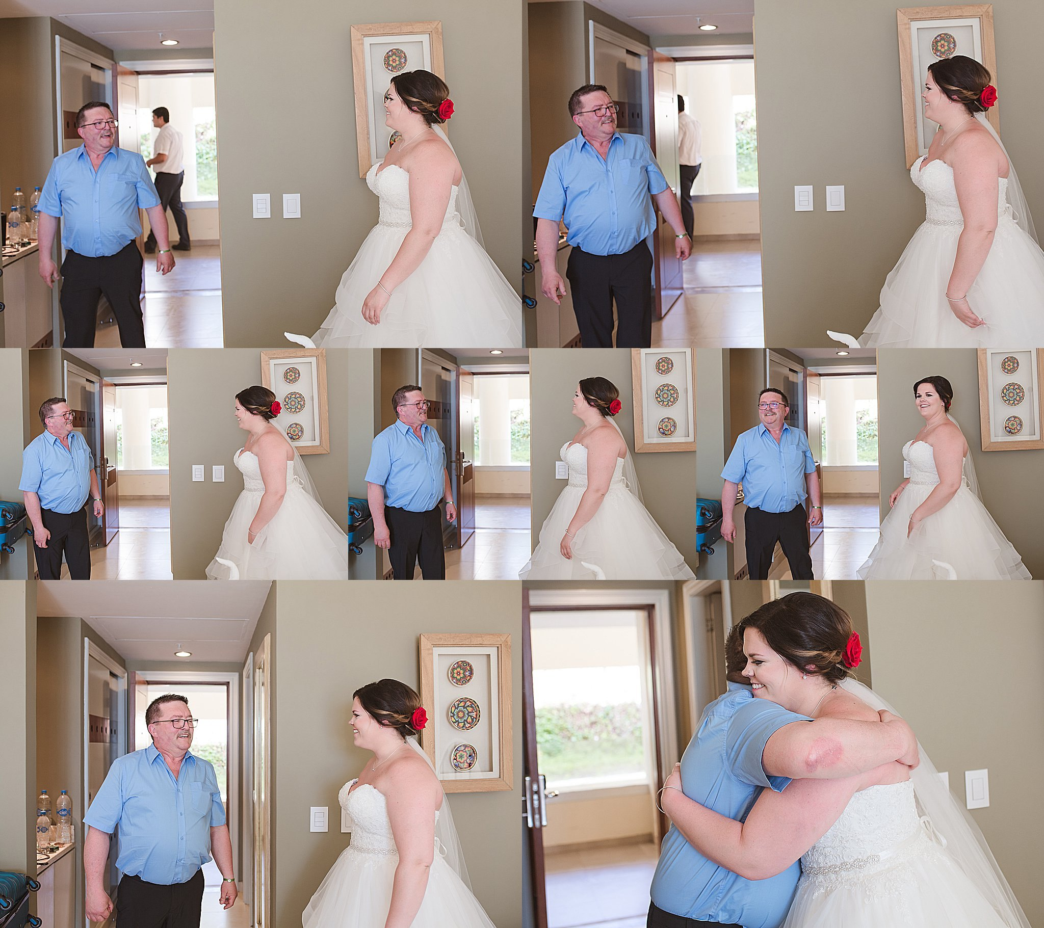 That first glance from dad of his baby girl on her wedding day - I'm not crying you're crying