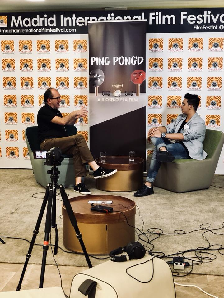 Our Co-Founder speaking about the film during an interview in Madrid