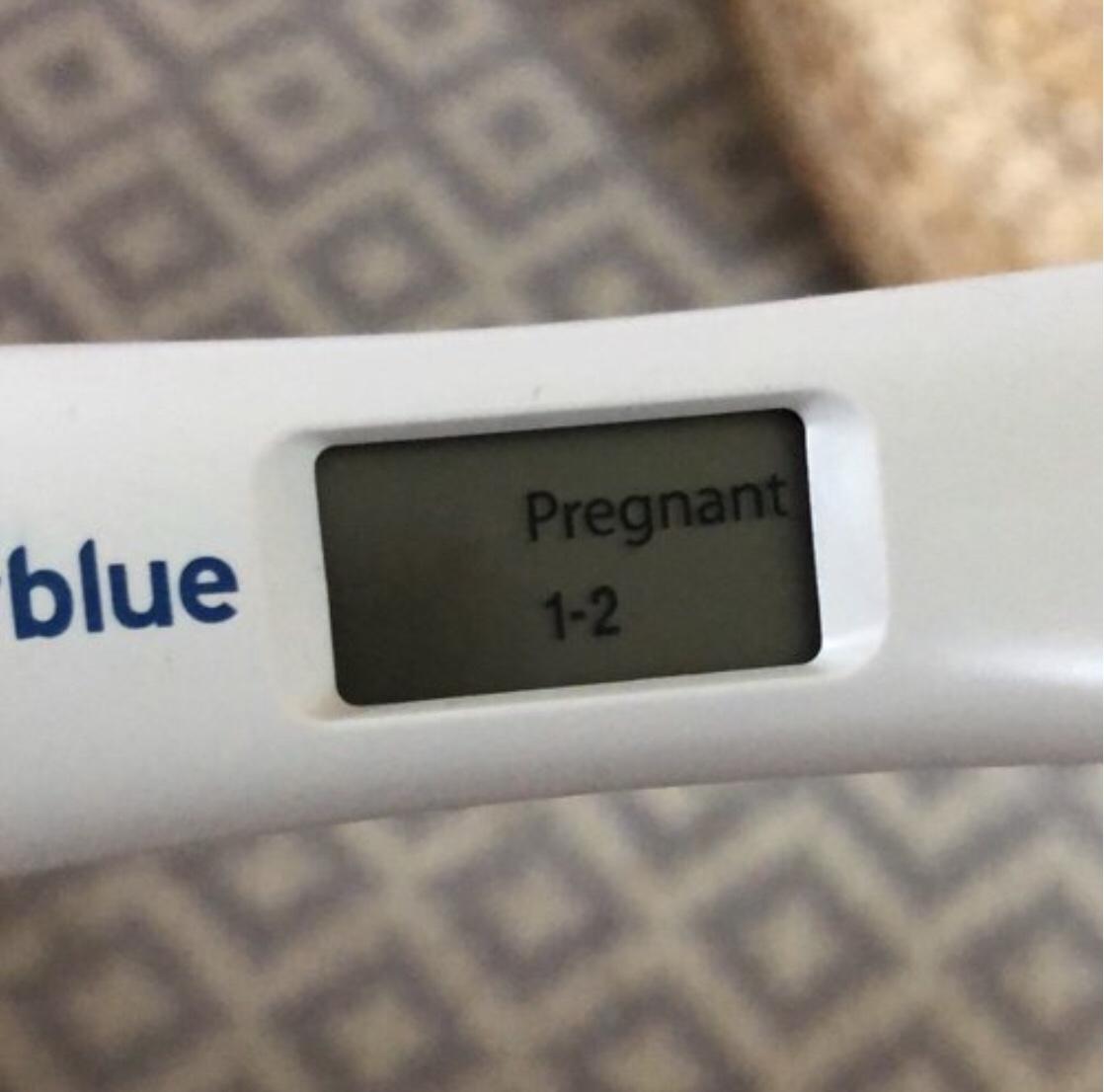 very faint line clear blue pregnancy test