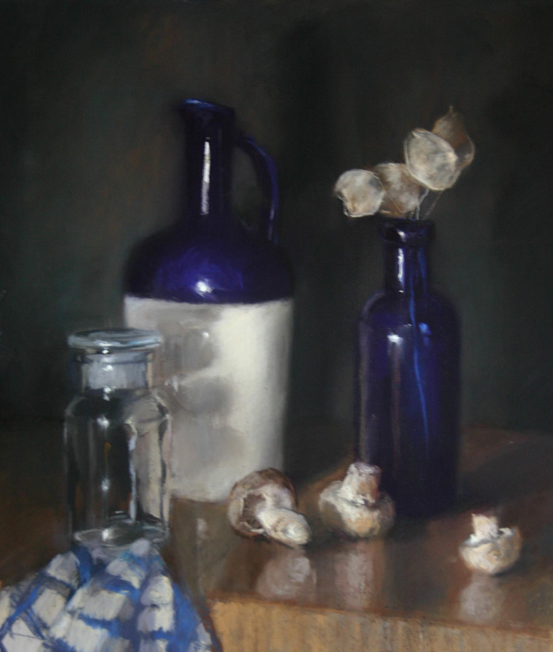 Arrangement in blue & white - Pastel