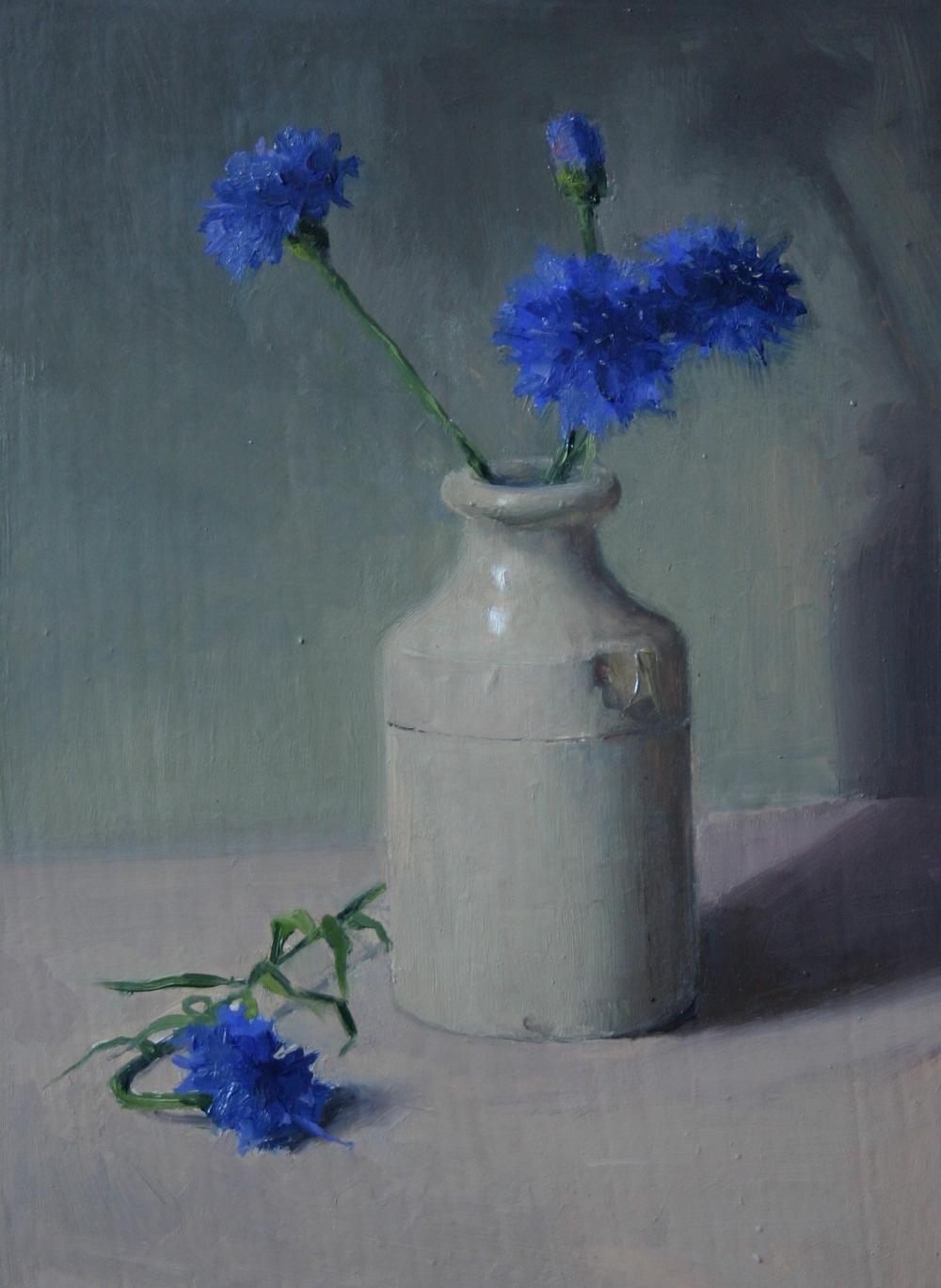 Cornflowers - Oil