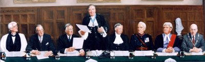 Installation of the High Sheriff of Bedfordshire - oil