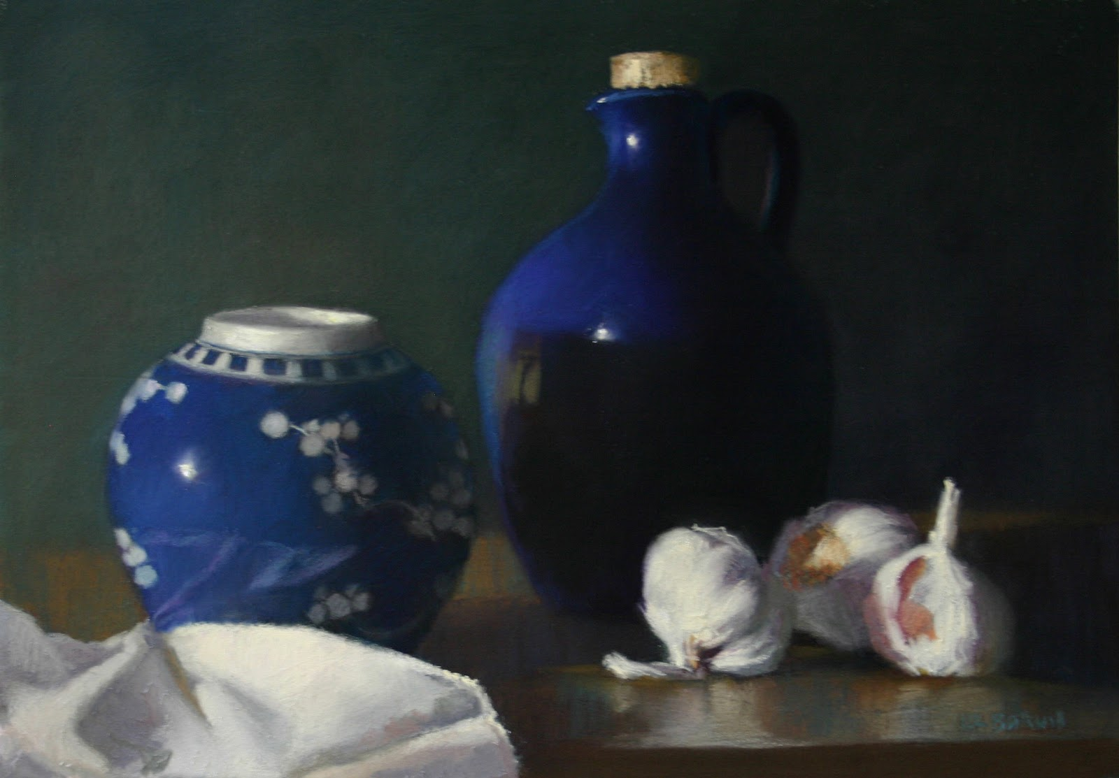 Ginger jar with garlics (small) - Pastel