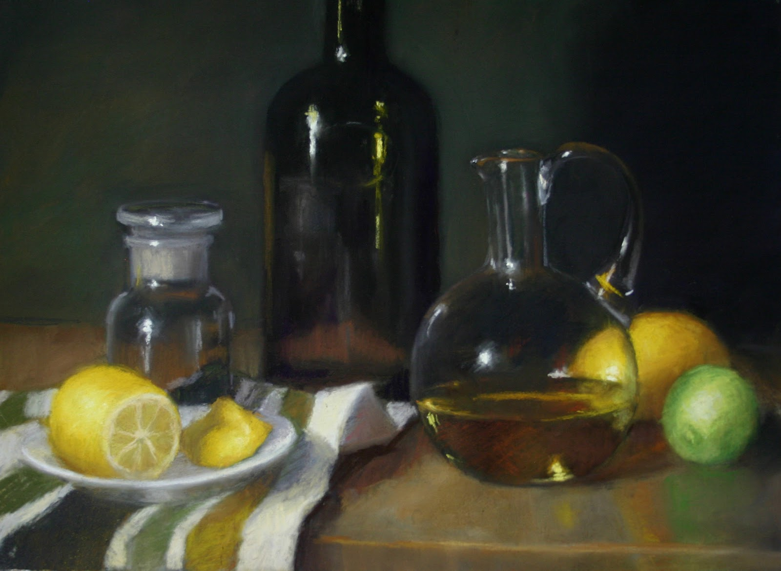 Olive oil & yellow pepper - Pastel