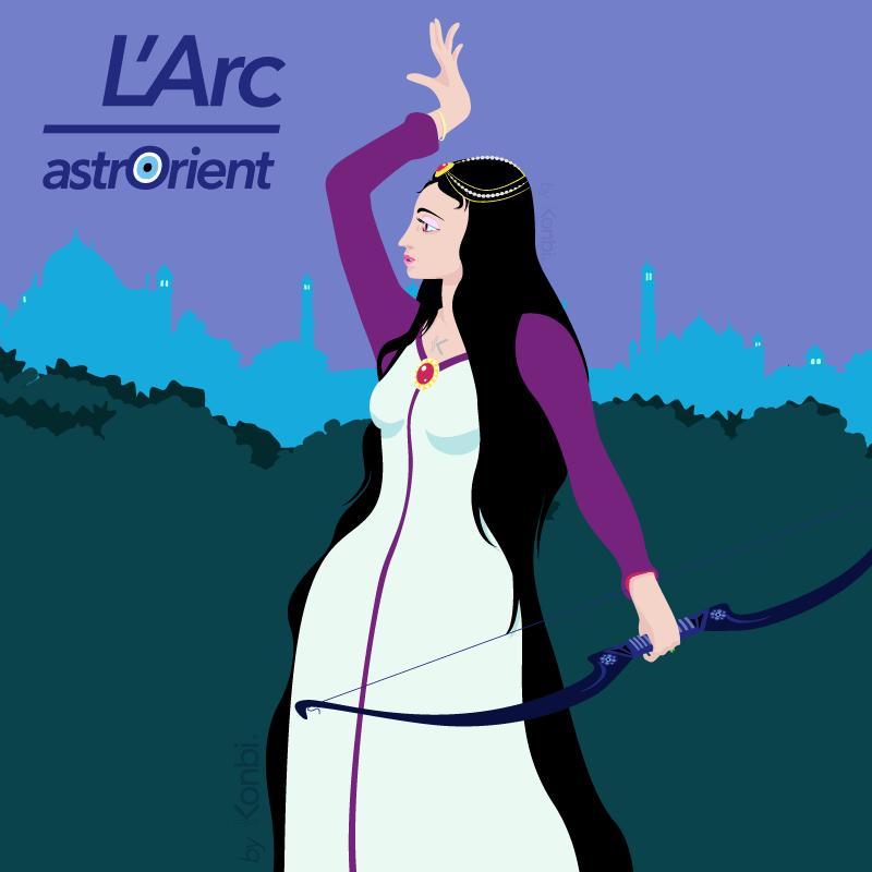 L'Arc  - Signe astrologique arabe par astrOrient © Konbi