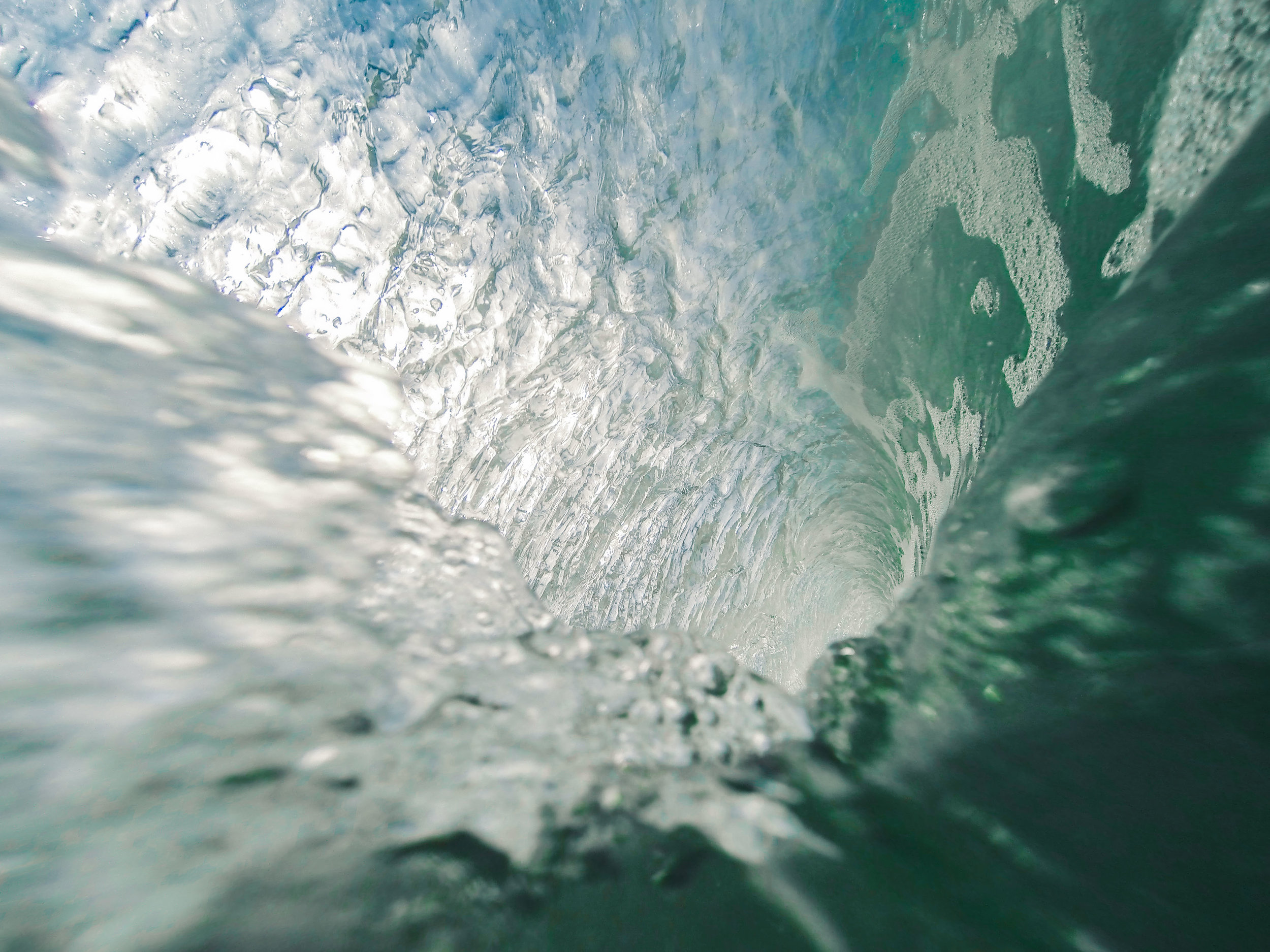 Wallpaper number 1 the inside of a Yorkshire wave, taken on my GoPro Hero 3 Black