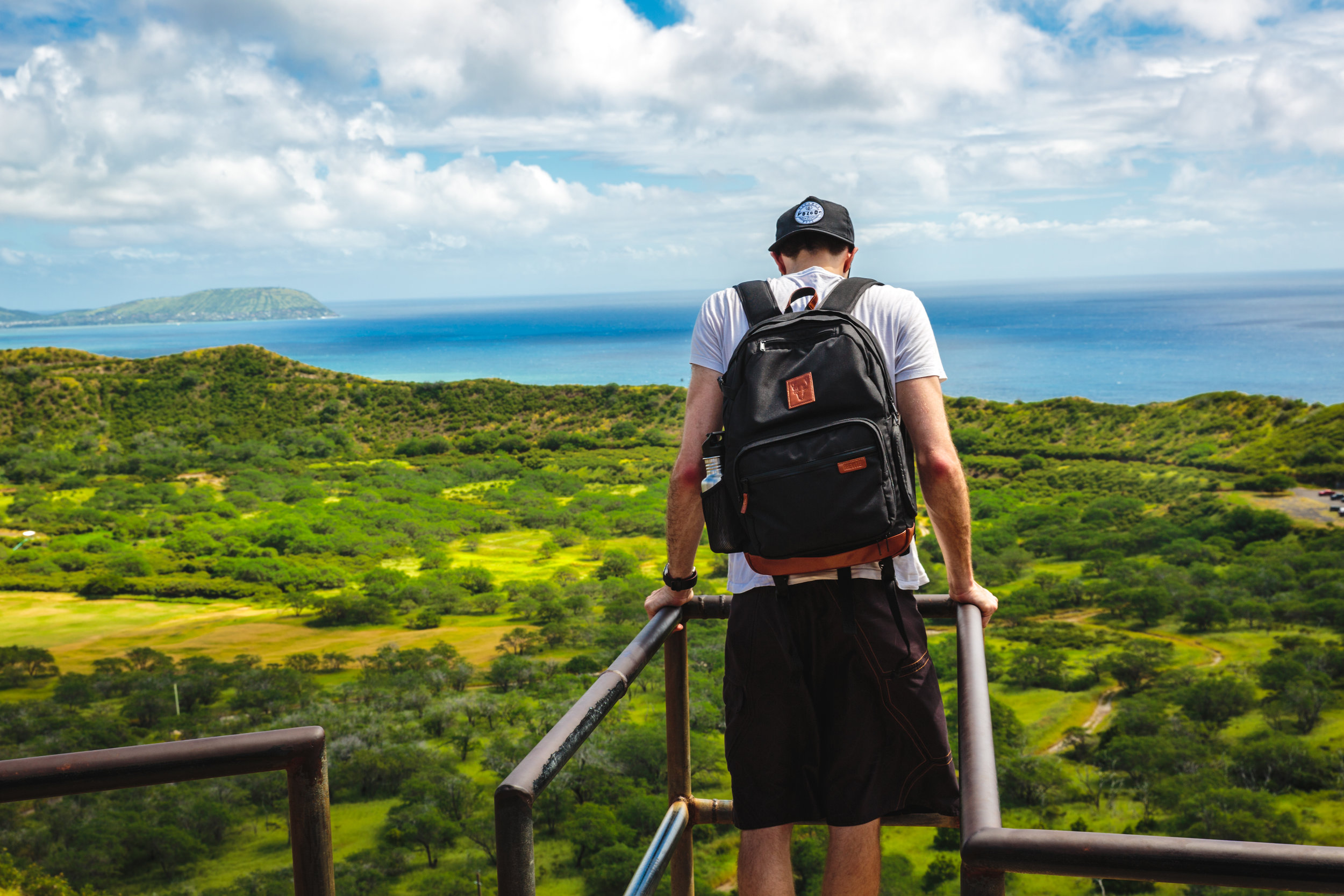 Exploring Hawaii with my Brevite Backpack in Hawaii. Photo by Amy Kendall.