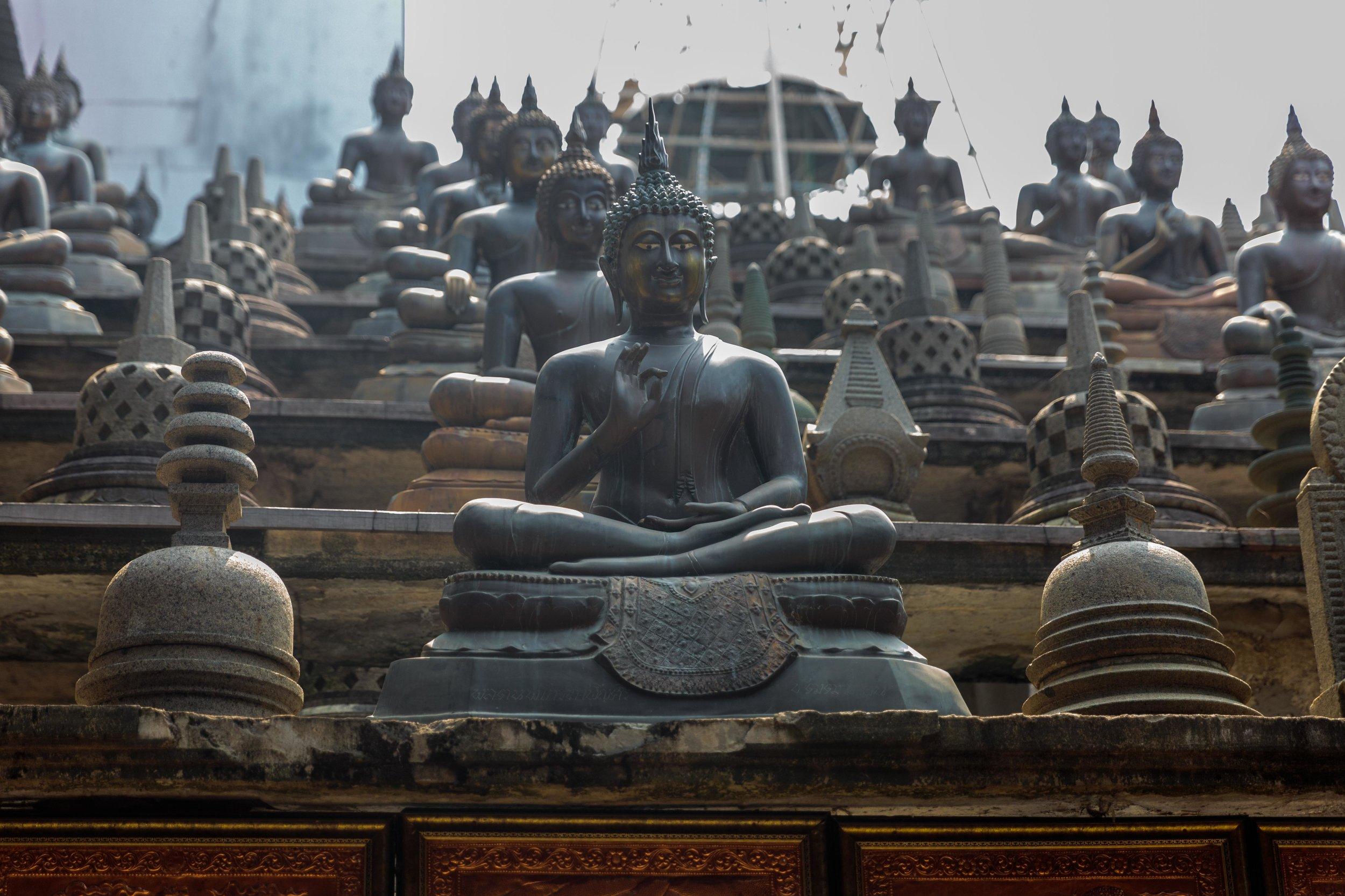 Inside the Gangaramaya Buddhist Temple.