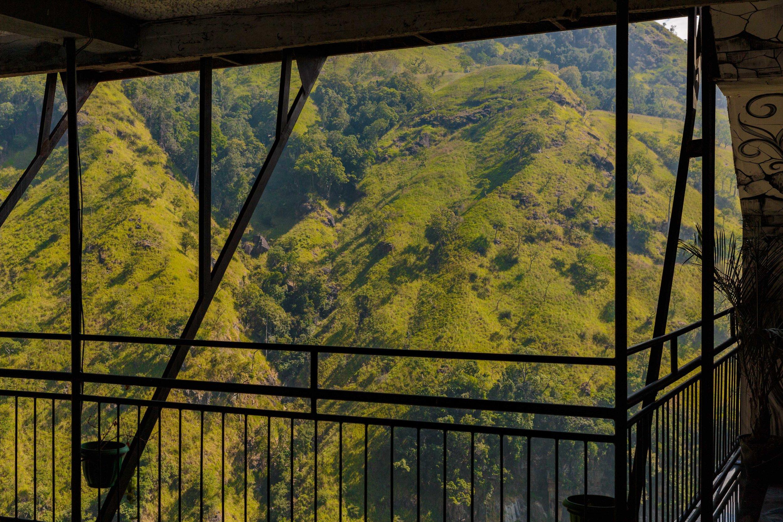 The imposing hillside.