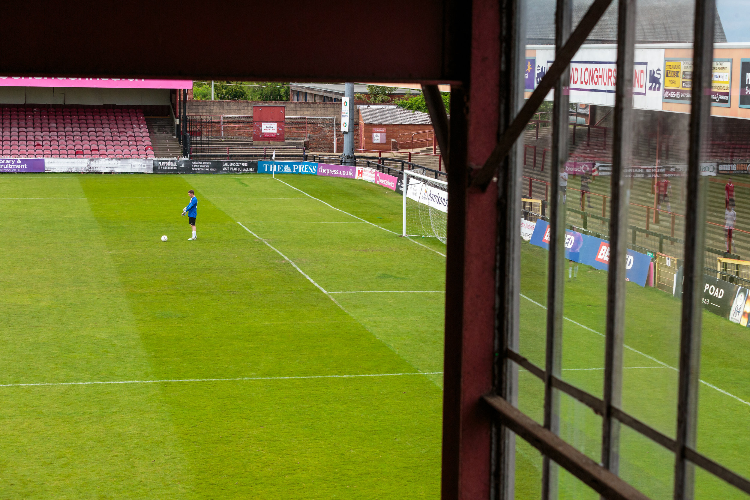 Goal Keeper at Bootham Crescent