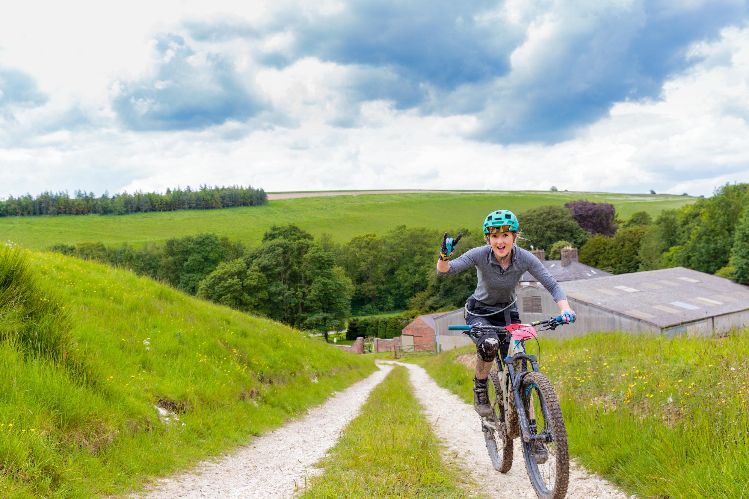 Rock on Mountain Biker