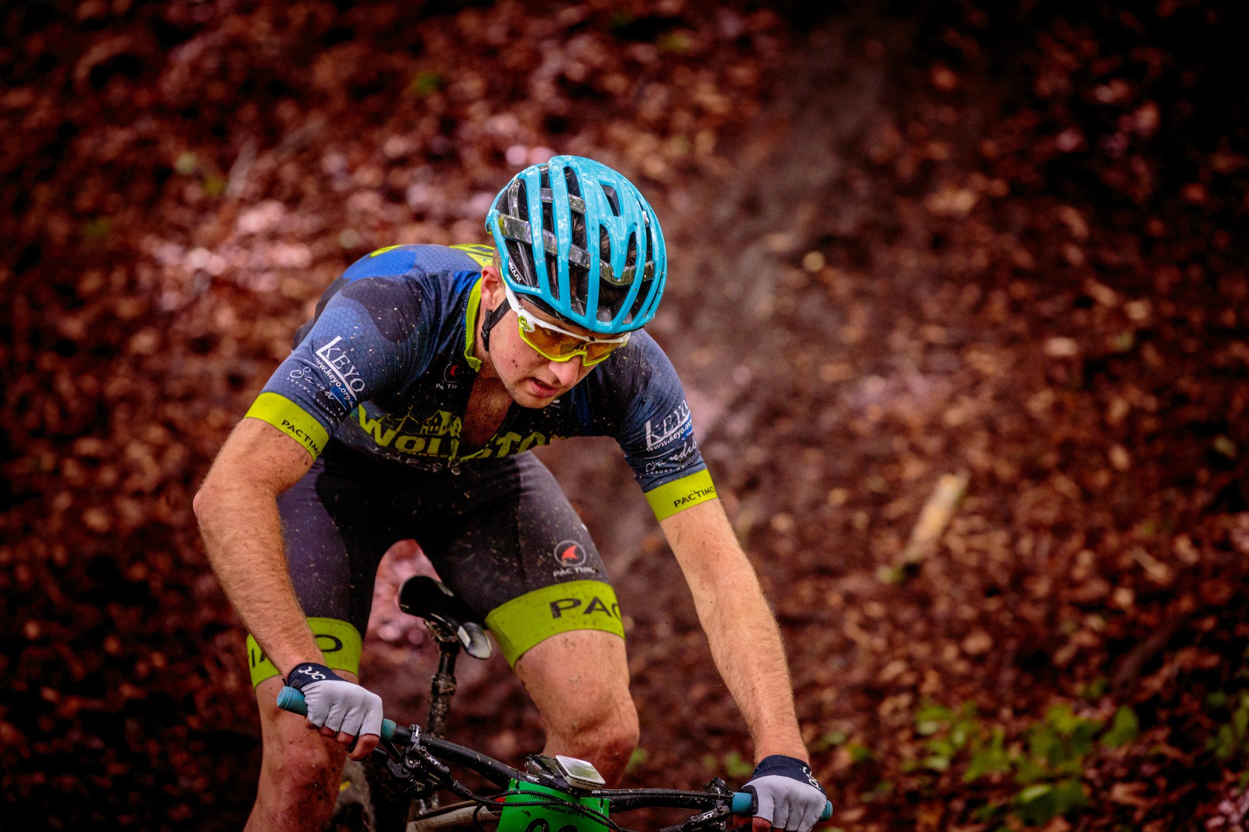 Close Up Mountain Biker Shot