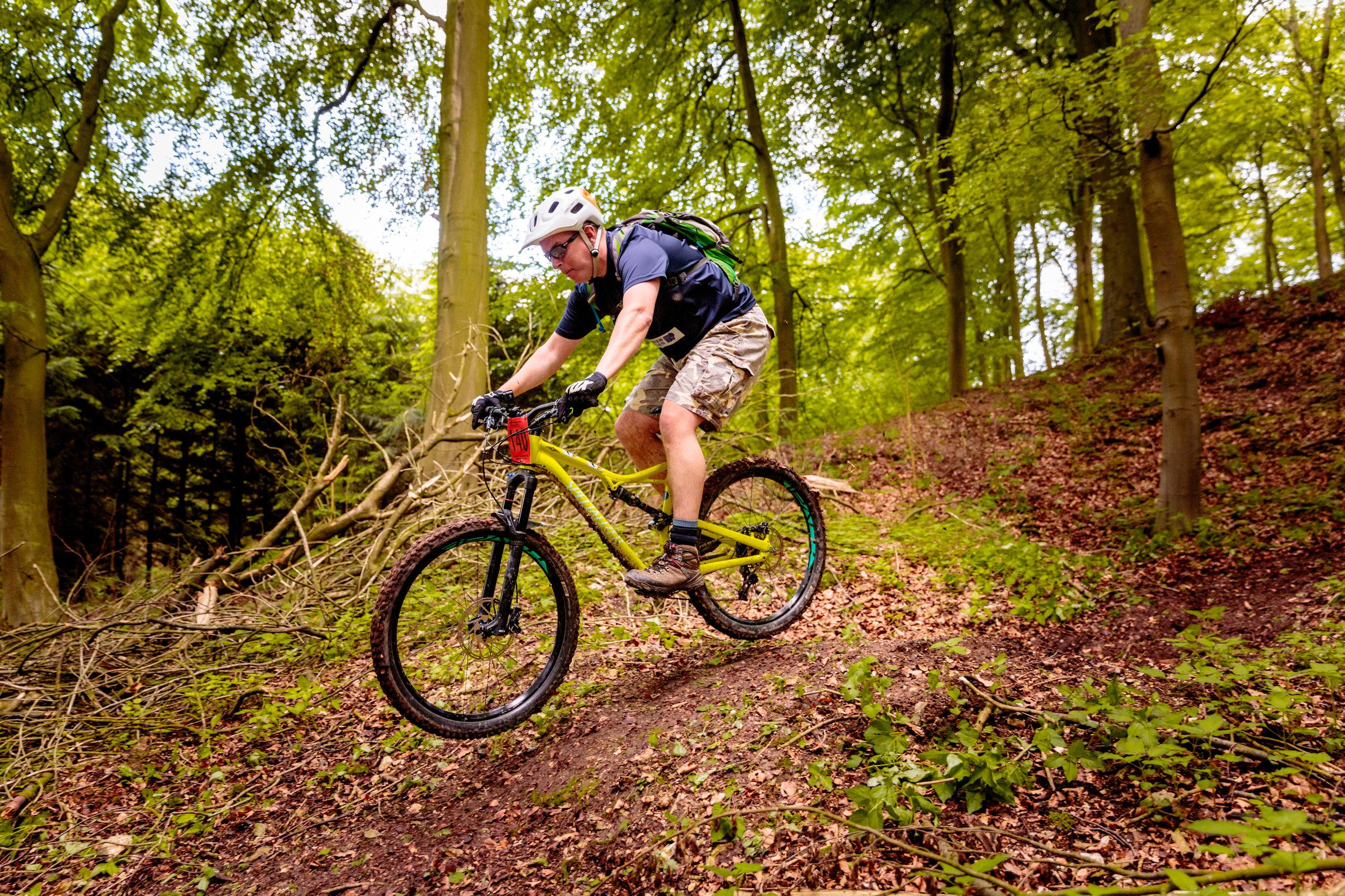 Mountain Biker Jumps