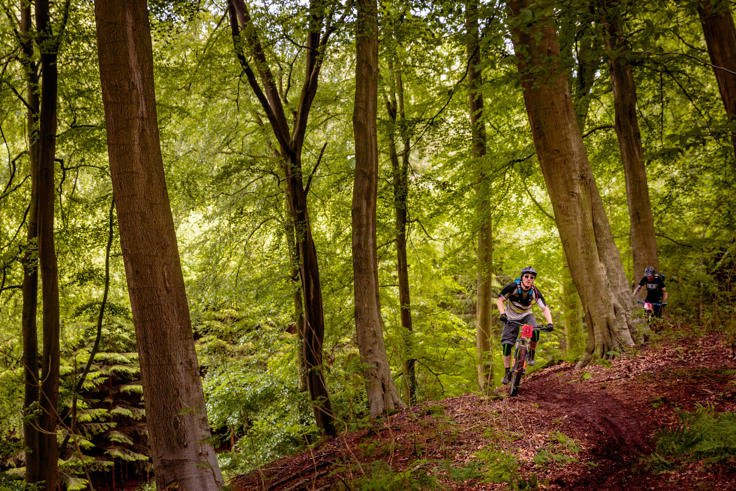 A Mountain Biker in Yorkshire