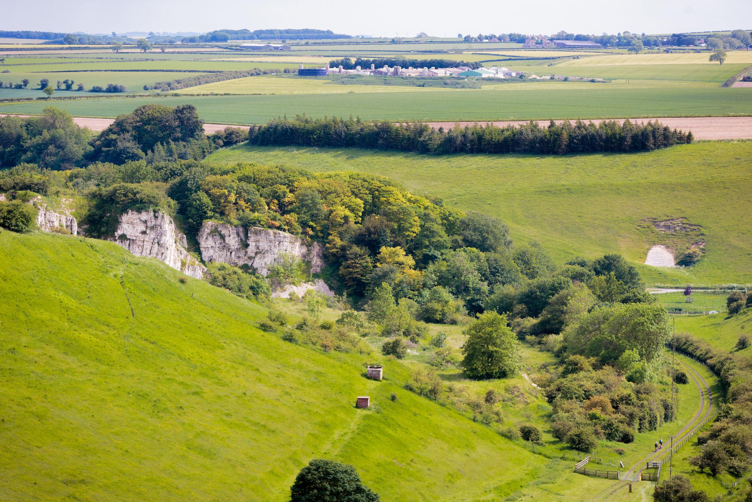 Bic Yorkshire Scenery.  Small Mountain Bikers.