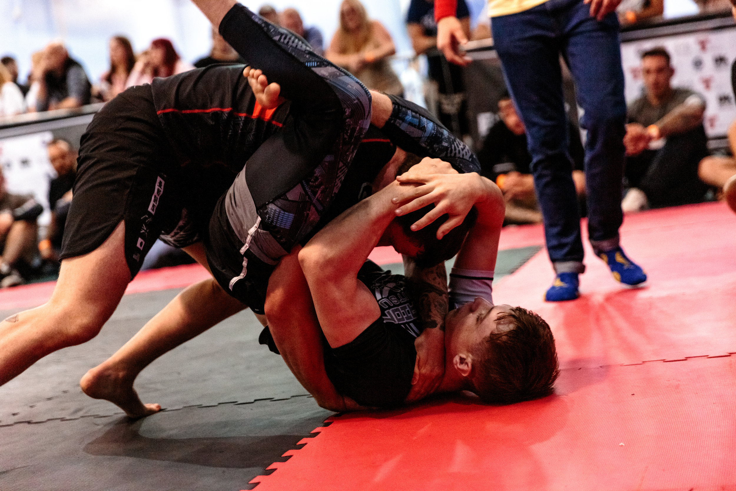 Hayden Baldwin Wrapping Up a Triangle at Empire Grappling