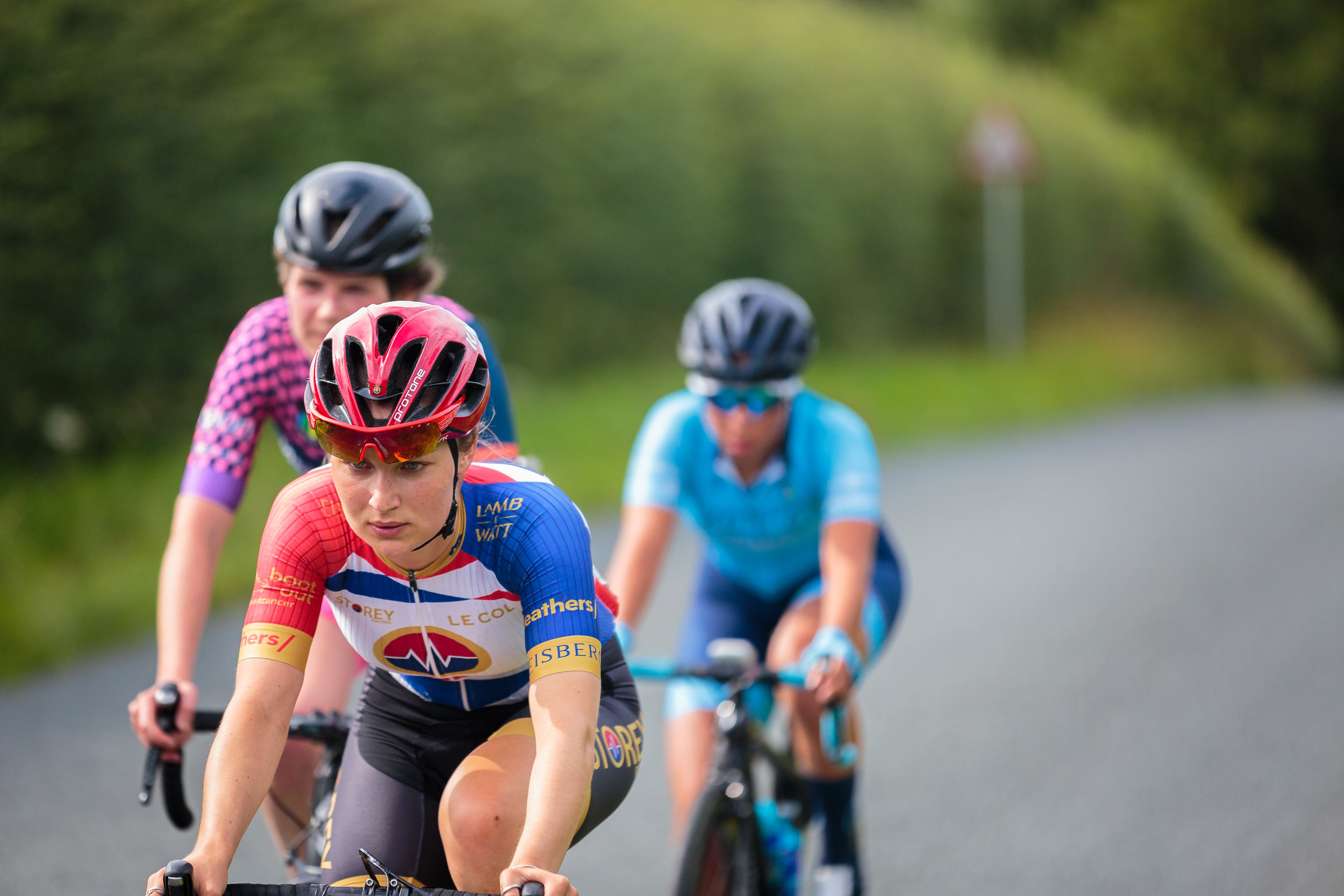 A Small Group of Women Cycling