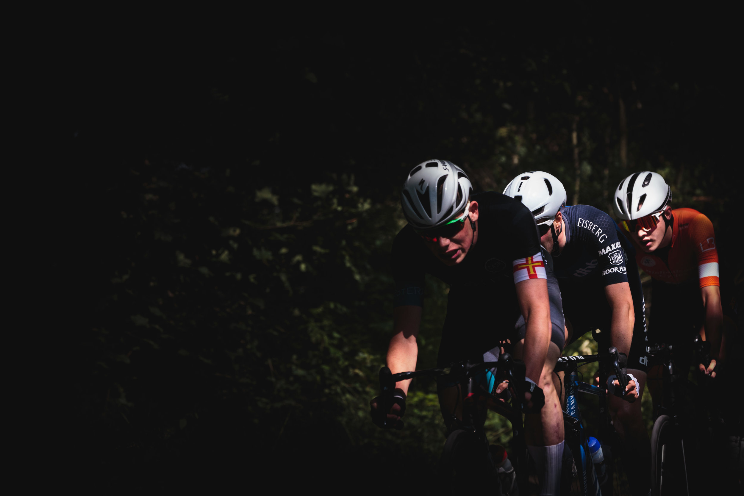 Playing with Light and Cyclists at a Bike Race