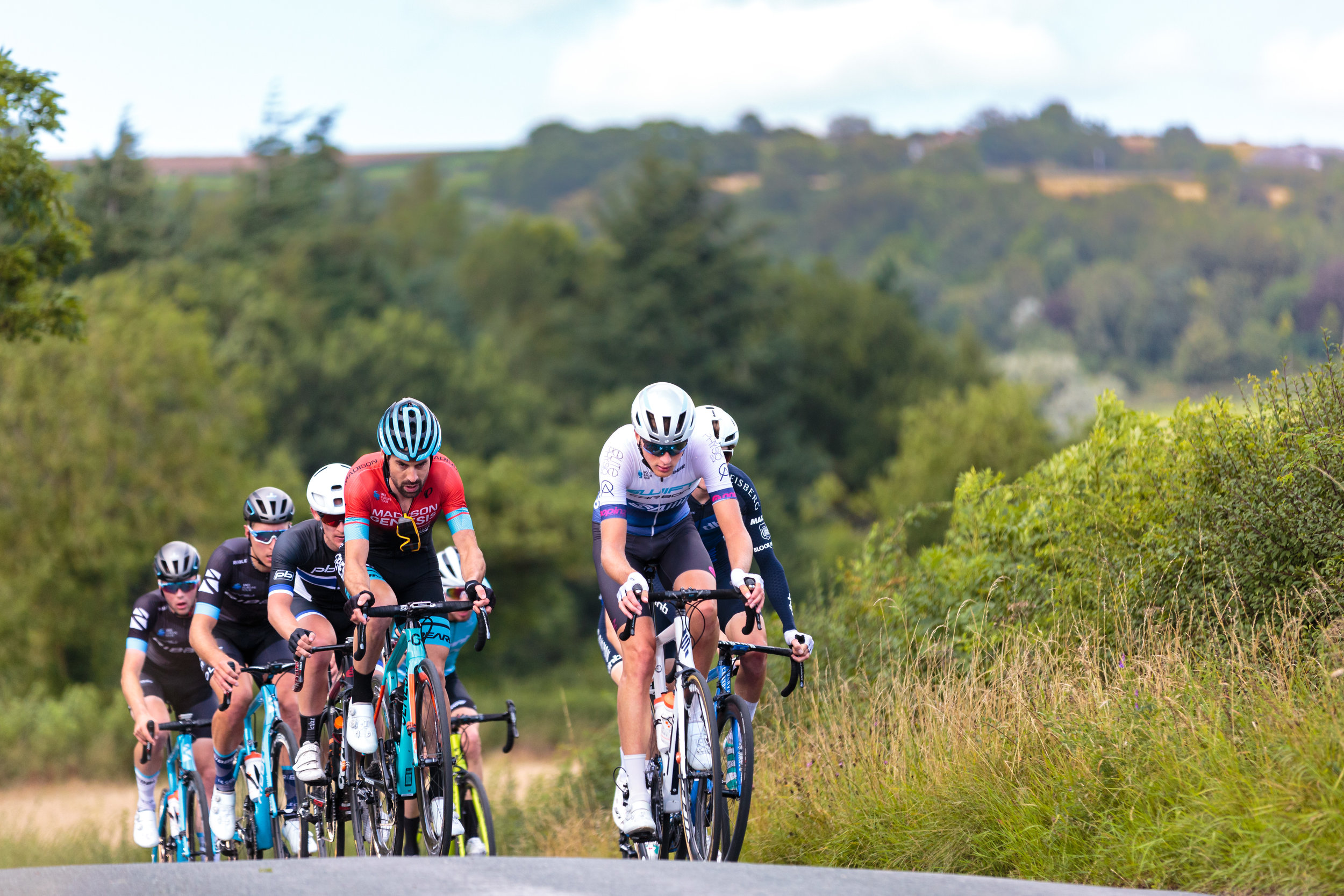 Swift Pro Cycling Lead a bunch up a climb