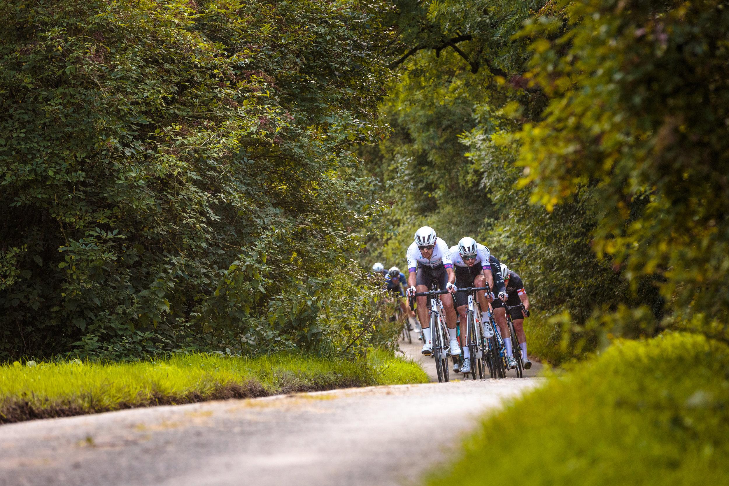 Swift Carbon Pro Racing Lead the Peloton