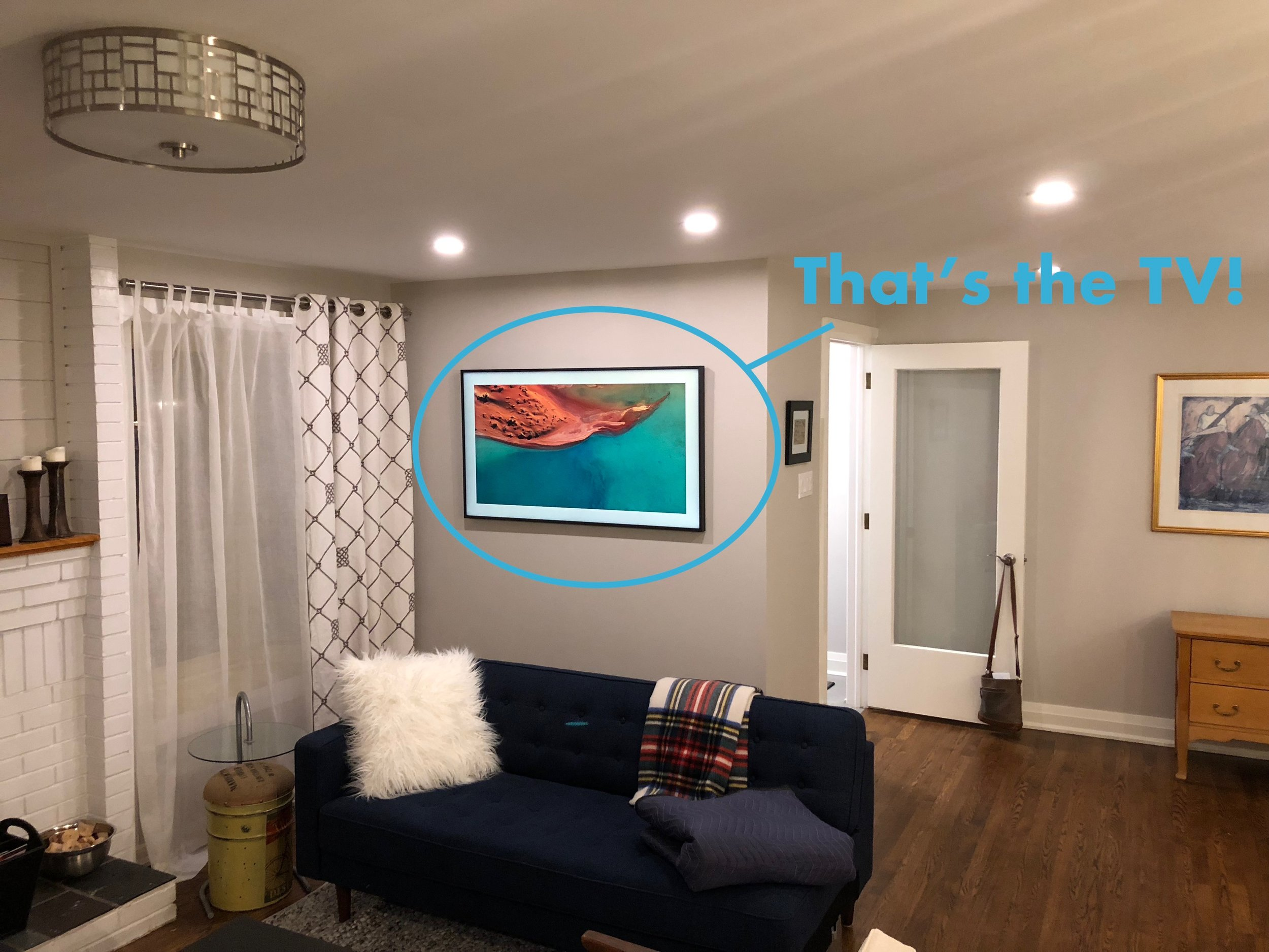 Hanging a TV? - Nothing ruins a well decorated living room quicker than seeing messy wiring around your TV.  Have your TV hung professionally, and love the look of your room.