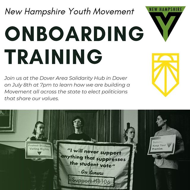 Do you ever wonder what it's like to organize massive sit-ins at the state house, host leaders like @berniesanders, or mobilize hundreds of young people across the state to elect leaders that will fight for us? Look no further. Come to our onboarding training this upcoming Monday to join the movement. 🗣📢 rsvp link in bio