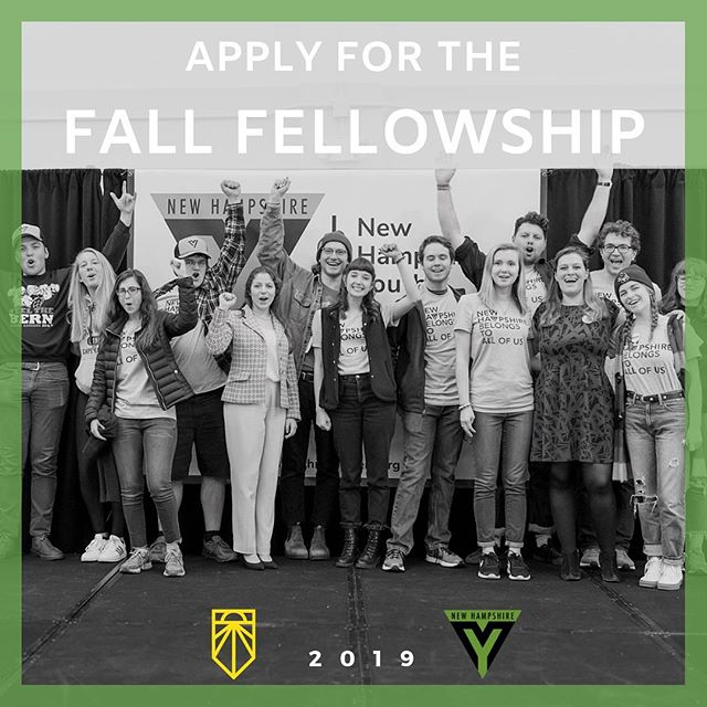 The Sunrise Movement x New Hampshire Youth Movement fall fellowship is now up! Together we're advancing the movement through electoral work, building our ground game for 2020, and working to make sure that young people are showing up to elect a climate champion, all while living in a movement house right here in New Hampshire. Application link is in the bio 🔥🔥🔥