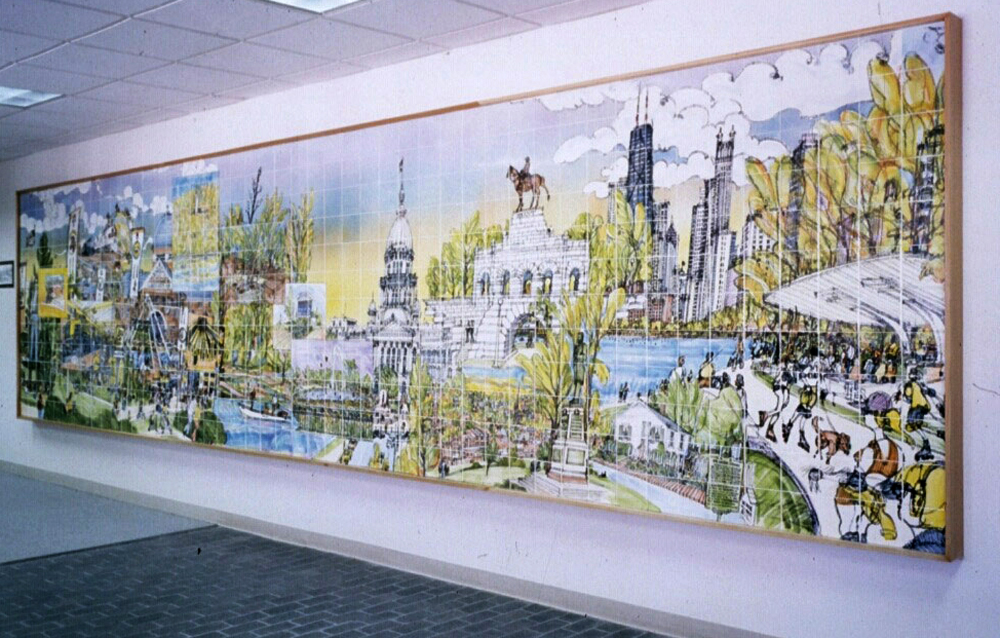 State of Illinois Mural, DePlaines, Illinois - 6'by40' Ceramic Tile