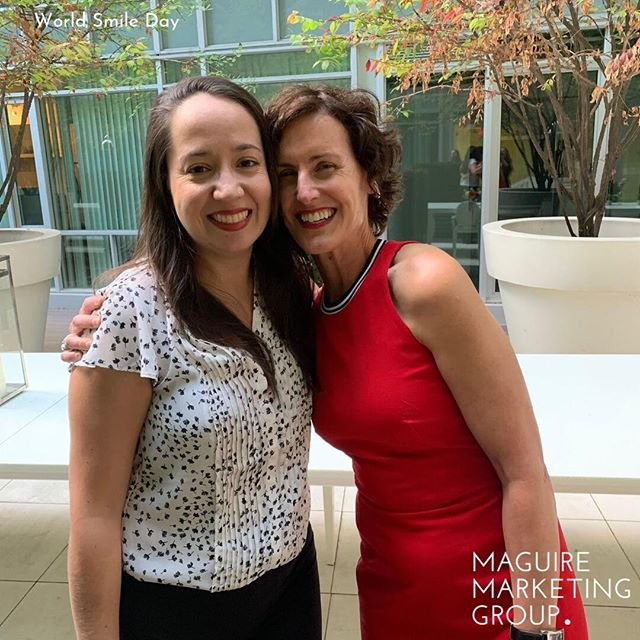 Nothing but smiles as our Operations Manager Jessica gets all the love from one of our clients! . It's great when your work life is full of amazing people! . . . #WorldSmileDay #SmileDay #Smile #Smiling #Happy #Grin #HappyFace #DontWorry #BeHappy #LaunchParty #Grinning #Beaming #Laugh #ThisismyHappyFace #MaguireMktg #B2BProfessionalServices #B2B #B2BMarketing #Marketing #MarketingAgency #Toronto #TorontoSmiles #Smiles #TorontoSmallBusiness #Entrepreneur #WGE #LaunchParty