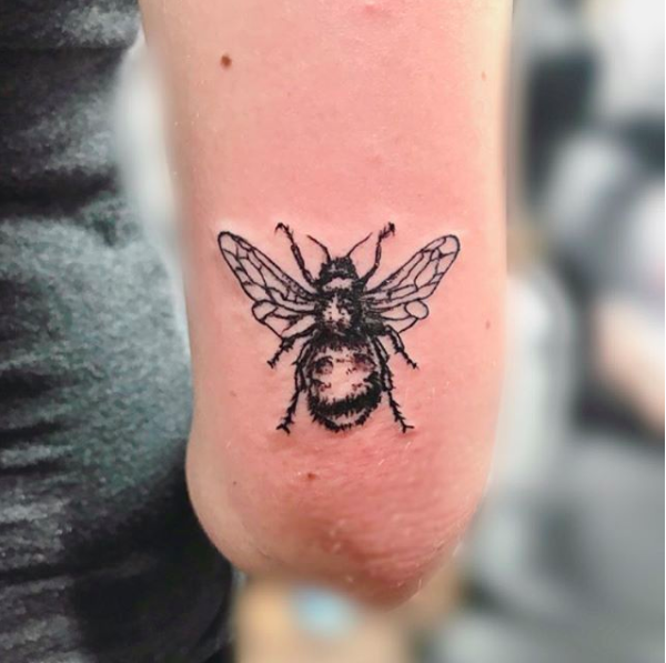 This queen bee is located right above my right elbow. She represents being hardworking and also is an ode to #savethebees.