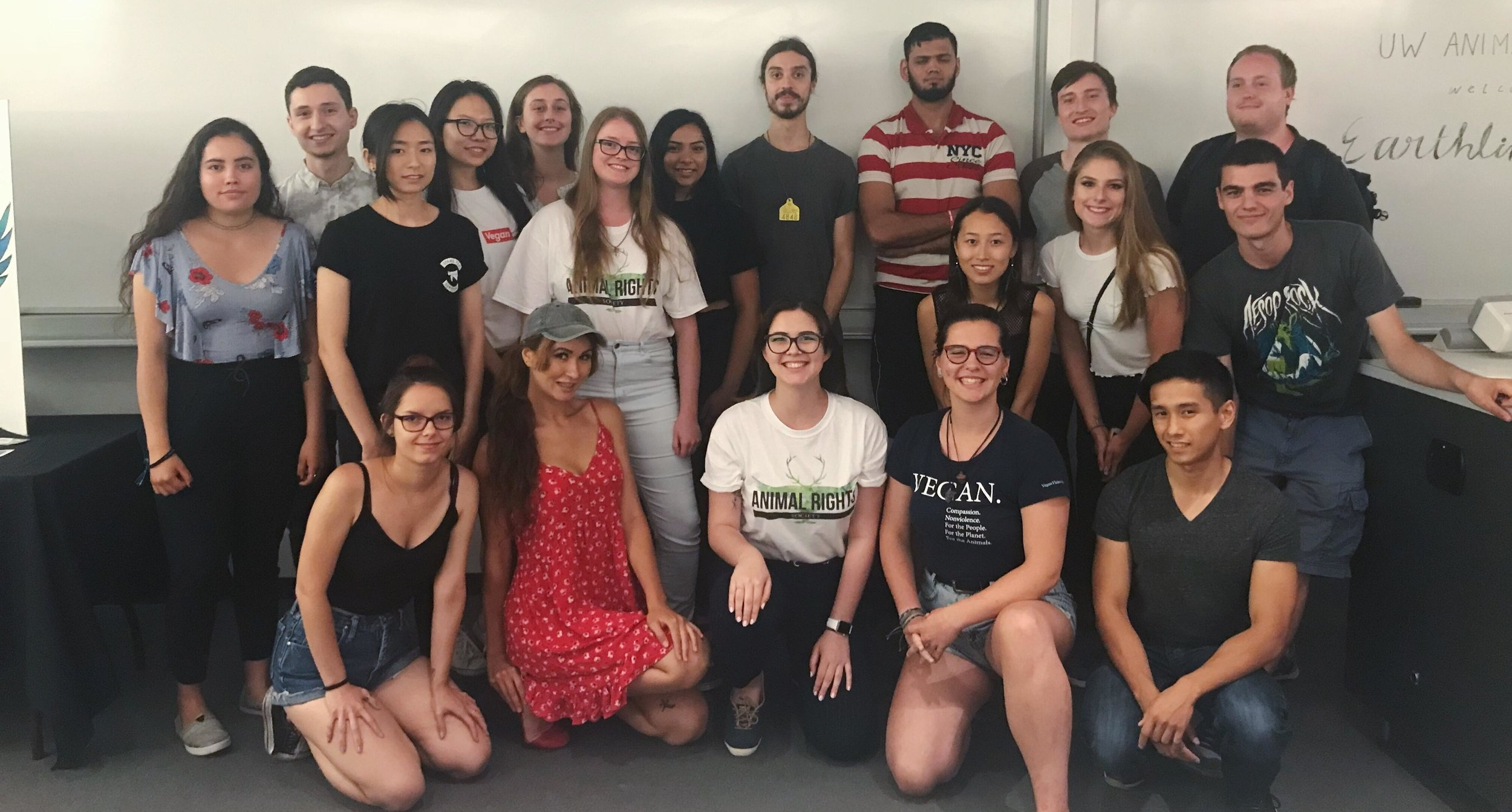 UW Animal rights Society with Earthling Ed at the University of Waterloo on Thursday, July 5, 2018.