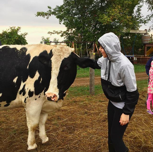 Me at FrogHollow Farm Sanctuary in 2016