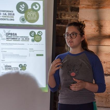 Me presenting on social media activism at the OPBSA Student Activist Conference held at Karuna Lane Farm Stay.