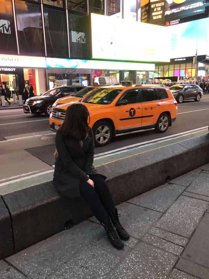 Yellow Taxi in Times Square